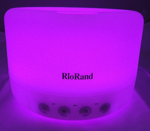 RioRand(TM) 7 Ultrasonic waterproof Oil Aroma Diffuser Air Humidifier LED Pure Essential Fragrance 500ml water capacity (Magic Touchpad version)