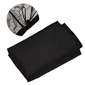 Estefanlo Barbecue Cover, Heavy Duty Oxford Cloth Waterproof & Dust-proof & Anti-UV Outdoor BBQ Grill Cover (Length…