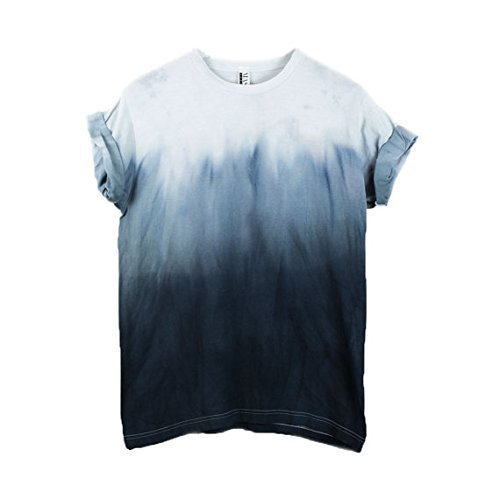 Black Dip Dye Unisex T-Shirt Ombre Pattern Shirt short Sleeve Plus Size S, M, L, XL, XXL, XXXL