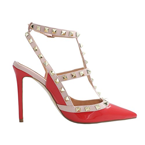 EKS Tacón de Mujer Lackleder Rot Zapatos wwPnxz