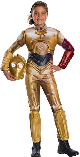 (Rubie's Star Wars VII: The Force Awakens Deluxe C-3PO Deluxe Girl's Costume,)