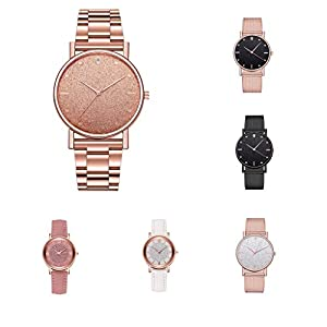 AOGOTO Womens Luxury Casual Watch Stainless Steel Dial Ultra Thin Minimalistic Watches In The Uk