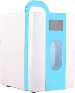 NIAS 10 Litre Portable car Refrigerator, Small Home-use Student Refrigerator Refrigerator, Light Weight Storage, Easy to Carry, Very Suitable for Bedroom, Camping, Outdoor, Commuting, Cosmetics,-Blue