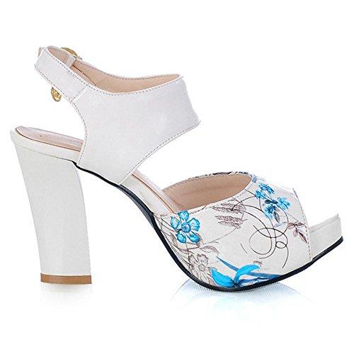 Peep Toe Femmes RAZAMAZA blue Sandales O5qXw4nF