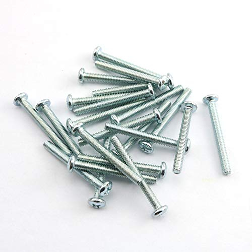 """24pcs 8-32 x 1-1/2"""" Machine Screws Metal Mounting Hardware Fitting Fastening Accessories Cross Slotted Round Phillips Head Screw Bolt"""