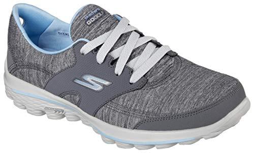 Skechers Performance Women's Go Walk 2 Backswing Golf Shoe,Gray/Blue,5 M US