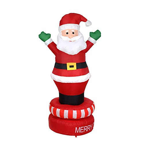 Viet-SC Inflatable Bouncers - 180cm Giant Santa Claus LED Lighted Inflatable Toys Christmas Halloween Props Birthday Wedding Party Toy Yard Decoration Blow Up 1 PCs]()