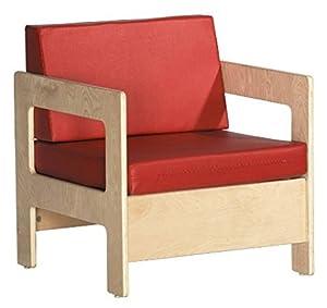 ECR4Kids Birch Hardwood Childrenu0027s Living Room Arm Chair, Red