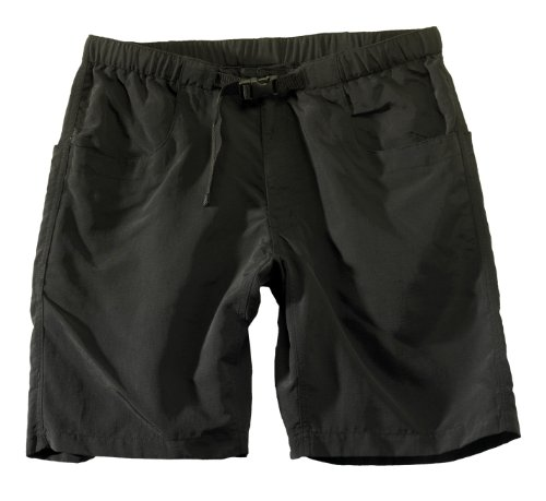 KAVU Men's Big Eddy Short, Black, XX-Large (Half Moon Buckle Belt)