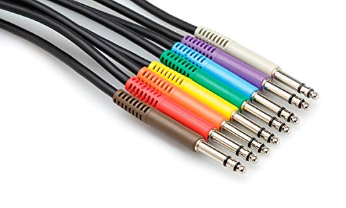 Hosa TTS-890 Balanced Patch Cables, TT TRS to Same, 3 ft