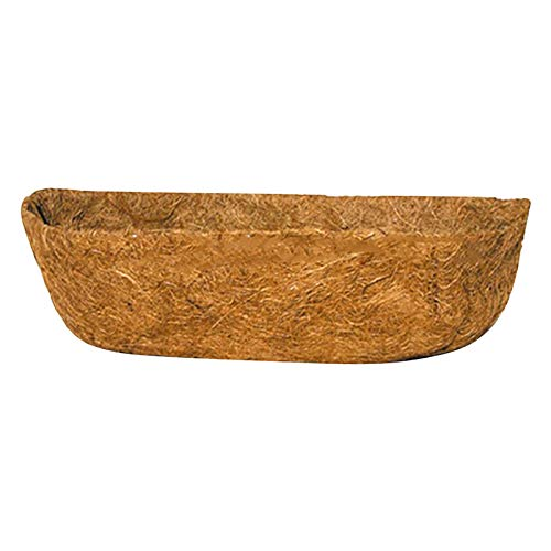 bestheart Trough Coco Liners,Coconut Liners for Planters,Hanging Basket Liner Replacement,Gardens, Vegetable Flower Pots, Flow Boxes, Basket Planters (24