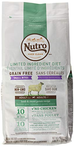 NUTRO Limited Ingredient Diet Natural Small Bites Adult Lamb & Sweet Potato Recipe Dog Food 4 Pounds]()