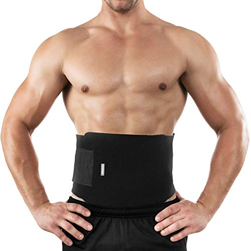 Bracoo Waist Trimmer Weight Loss Wrap, Sweat Sauna Slim Belt for Men and Women - Abdominal Trainer, Stomach Fat Burner, Increased Core Stability, Metabolic Rate, SE20