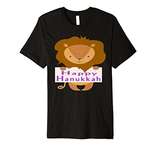 Happy Hanukkah LION Menorah Funny Holiday T-Shirt Gift