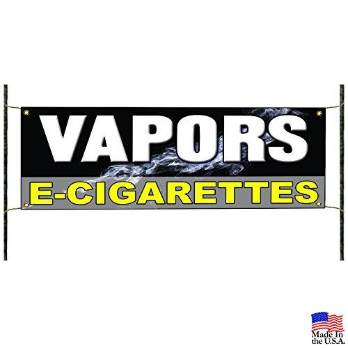 Vapors E-Cigarettes Banner Signs Pipe E-Liquid Flavor Concentrates Nicotine