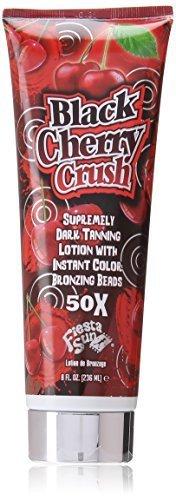 Beads Bronzing (Fiesta Sun Black Cherry Crush Dark Supremely Dark Tanning Lotion with Bronzing Beads 236 ml by Fiesta Sun)