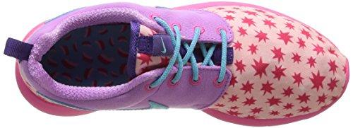 Nike Roshe One Print (GS) - Zapatillas de Running, Niñas Prsm Pnk/Td Pl Bl-Fchs Glw-Pnk