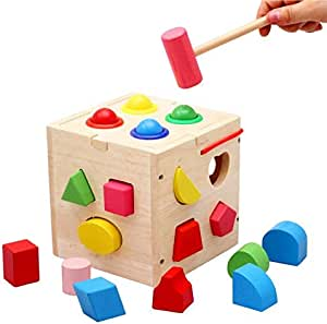 To increase the child's intelligence level and develop his wooden toy skillwith wooden hummer