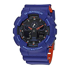 41rCUHA5TSL. SS300  - Casio Men's G Shock Quartz Watch with Resin Strap, Multi, 28.8 (Model: GA-100L-2ACR)