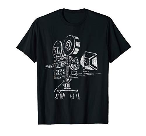 Film Lover Vintage 35mm 70mm Movie Camera T Shirt