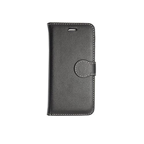 Kamal Star® iPhone 6 / 6S Black Book PU LEDER CASE COVER HÜLLE ETUI TASCHE SCHALE+ Free Tempered Glass Screen Protetor + STYLUS
