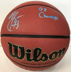 Mario Chalmers Autographed Basketball - Wilson NCAA JSA) - Autographed Basketballs