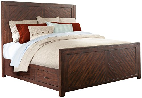 Abbey Avenue B-JAS-QB Jasper Platform Storage Bed, Queen, Wa