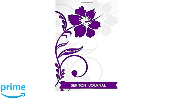 Sermon Journal: Sermon Notes Personal Organiser Organizer