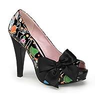 0ccd4232bf 4 1/2 Concealed Platform Sexy High Heel Shoes Skeleton Pirate Peep Toe Pumps  Lar
