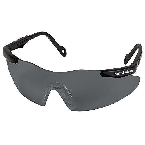(Smith and Wesson Safety Glasses (19823), Magnum 3G Safety Eyewear, Smoke Lenses with Black Frame)