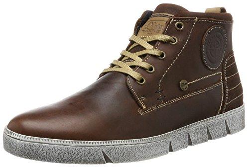 Hommes S.oliver 15238 Brun Haute Sneaker (cognac)