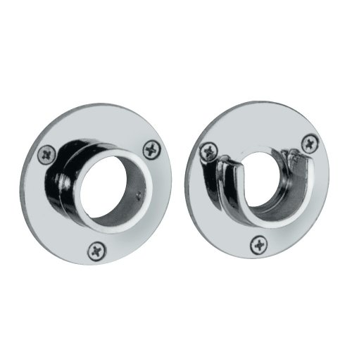 Rod Flange (Gatco 833 2-5/8-Inch Diameter Wall Flange Pair, Exposed Screw Mounting, Chrome)