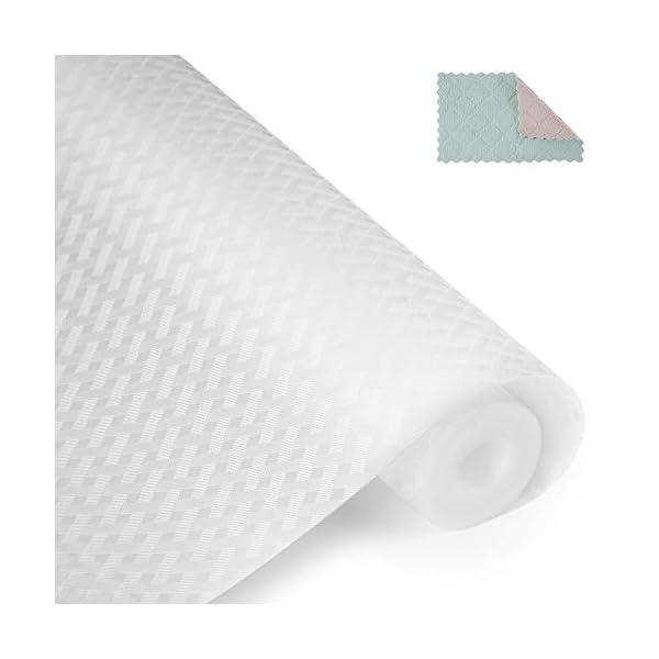 41rCVEeo%2BqL amorus Schubladeneinlage, waschbar, 150 x 45 cm, Anti-Schimmel, antibakteriell, rutschfest, wasserdicht, transparent, 2…