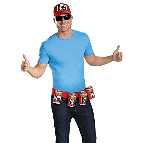Disguise Men's Duffman Costume Kit, Multi, One (Good Halloween Costumes For Men)