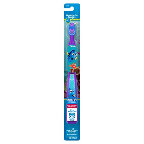 Oral-B Pro-Health Stages Kids Manual Toothbrush featuring Finding Dory, Soft Bristles, 1 ct]()
