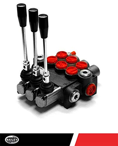 Chief P40 G Series Directional Control Valve Loader: 3 Spool, 3 Position Spring Center and 4 Position Float, 10 GPM, 3625 PSI, SAE #10 Inlet and Outlet, SAE #8 Work Ports, 220959 ()