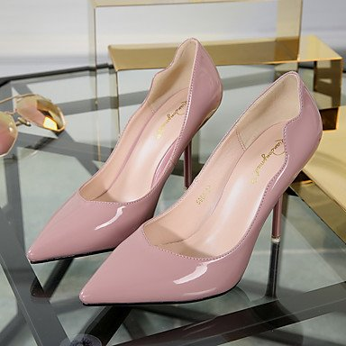 blue PU Heels Black Slingback 2in Spring Blushing Slingback 2 4in Women's LvYuan Casual ggx 3 Blue Burgundy Pink wIqTBS
