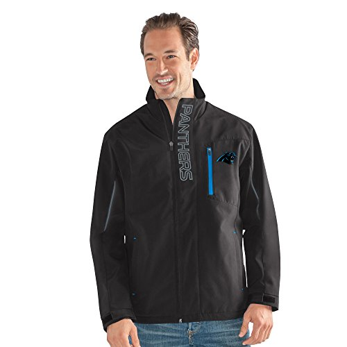- G-III Sports NFL Carolina Panthers Adult Men Energy Soft Shell Full Zip Jacket, X-Large, Black