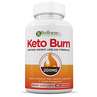 Keto Diet Pills - Weight Loss Supplement - Appetite Suppressant - Boosts Your Metabolism - Enhanced Energy - 30 Day Supply - Wellness & Nutrition