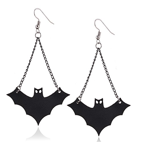Halloween Bat Hook Dangle Earrings for Halloween Costumes Props Women Girls Kids Vintage Retro Fashion Bat Tassel Drop Earrings Jewelry Set, (Typewriter Halloween Costume)
