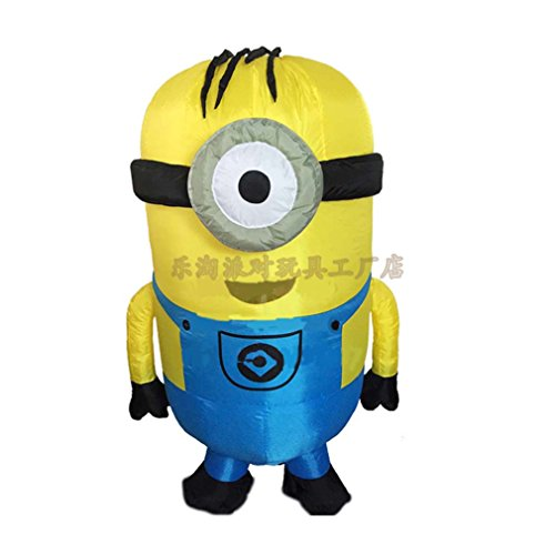 Uk Costume Despicable Minion Me (T-Rex Despicable Me Minions Inflatable Adult cosplay costume TRex Halloween Party)