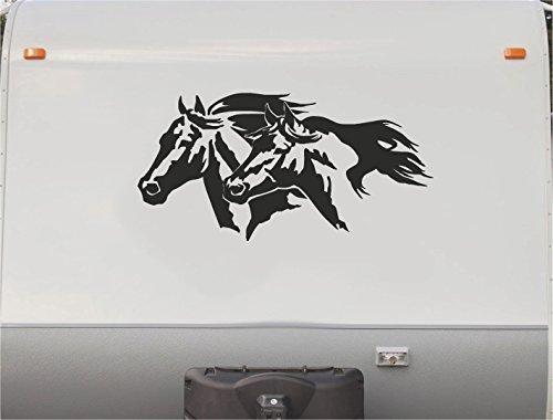 Thoroughbred Equestrian Horseback Riding Horse RV Camper Trailer Camping Decal Sticker Graphic Mural HT201