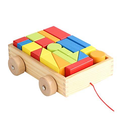 Tomaibaby Houten Trein Peuterspeelgoed Grappige Sorter Stapelblokken Kinderen Houten Puzzel Vroeg Educatief Speelgoed…