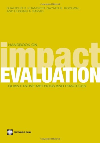 Handbook on Impact Evaluation: Quantitative Methods and Practices (World Bank Training Series)