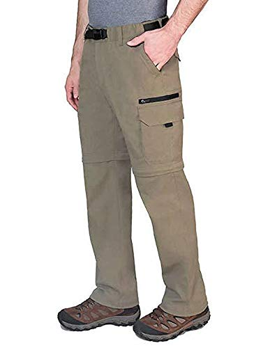 Mens Convertible Pant (BC Clothing Men's Convertible Pant with Stretch,Variety (XXLx30, Sand))