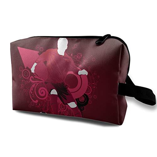Football Art Pattern Cosmetic Bags Makeup Organizer Bag Pouch Zipper Purse Handbag Clutch Bag ()