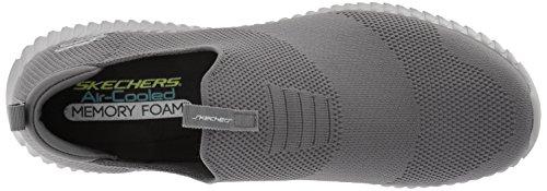 Skechers Mens Elite Flex Wasik Loafer Charcoal