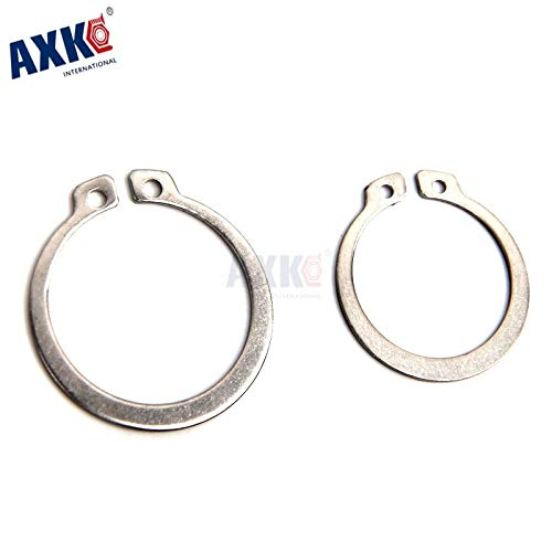 Nuts Huscus 100pcs 3mm 4mm 5mm 6mm 8mm Gb894 Gourd Type Washer 304 Stainless Steel C-Type Elastic Ring External Circlip Snap Retaining - (Size: 50PCS)