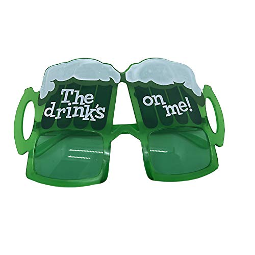 XuBa Irish Festival St. Patrick's Day Glasses Festival Party Green Beer Mug Promotional Prom Ball Glasses