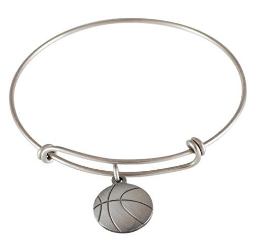 Emoji Single Charm Bracelet (Basketball - Antique (Silver Basketball Bracelet)